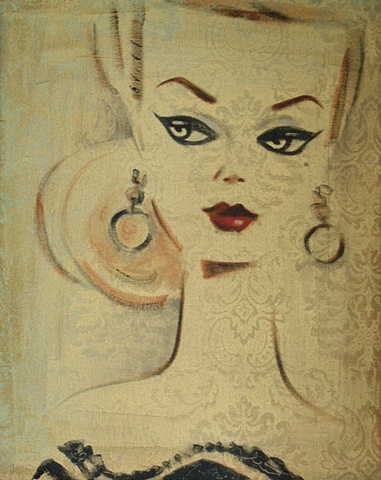 Debbie Curtis Barbie Art