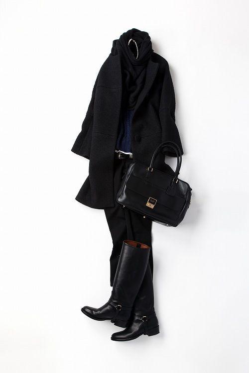 Kyoko Kikuchi's Closet | ネイビー×ブラック、寒い日バージョン