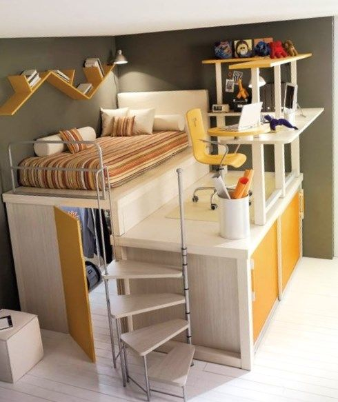 Cool Closet Design Ideas For Kids: Space Saving Furniture Ideas For Kids Rooms By Tumidei Spaa