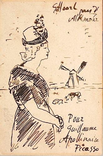 P. Picasso - G. Apollinaire Carte postale avec dessin, à Apollinaire, 1905 - See more at: http://www.artcurial.com/en/asp/fullCatalogue.asp?salelot=1489+++++240+&refno=10240872#sthash.wcyxIJUd.dpuf                                                                                                                                                      Plus