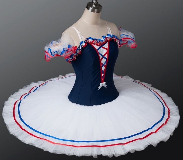 Professional Blue White Red Flames of Paris Ballet Tutu Costume Custom MTO YAGP #Unbranded