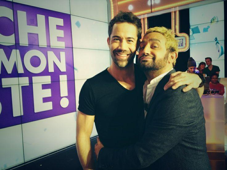 Emmanuel Moire et Cyril pour une pose câlin  #backstage #TPMP