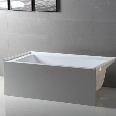 """cambridge 60"""" x 32"""" alcove soaking americast bathtub in"""