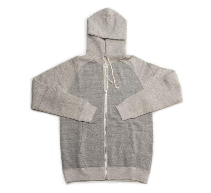 Jeffrey 2 Mix Melange Zip Hooded Fleece Sweatshirt by Filmelange - shop at Roztayger