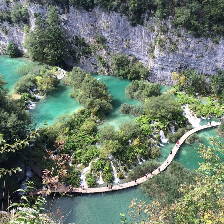 View from the top - Plitvice Lakes, Croatia