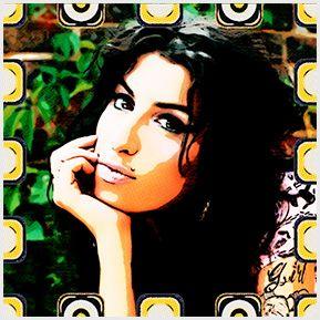 Amy Winehouse 03 - Coleção de quadrinhos confeccionados em Azulejo no tamanho 15x15 cm.Tem um ganchinho no verso para fixar na parede. Para entrar em contato conosco, acesse: www.babadocerto.c...