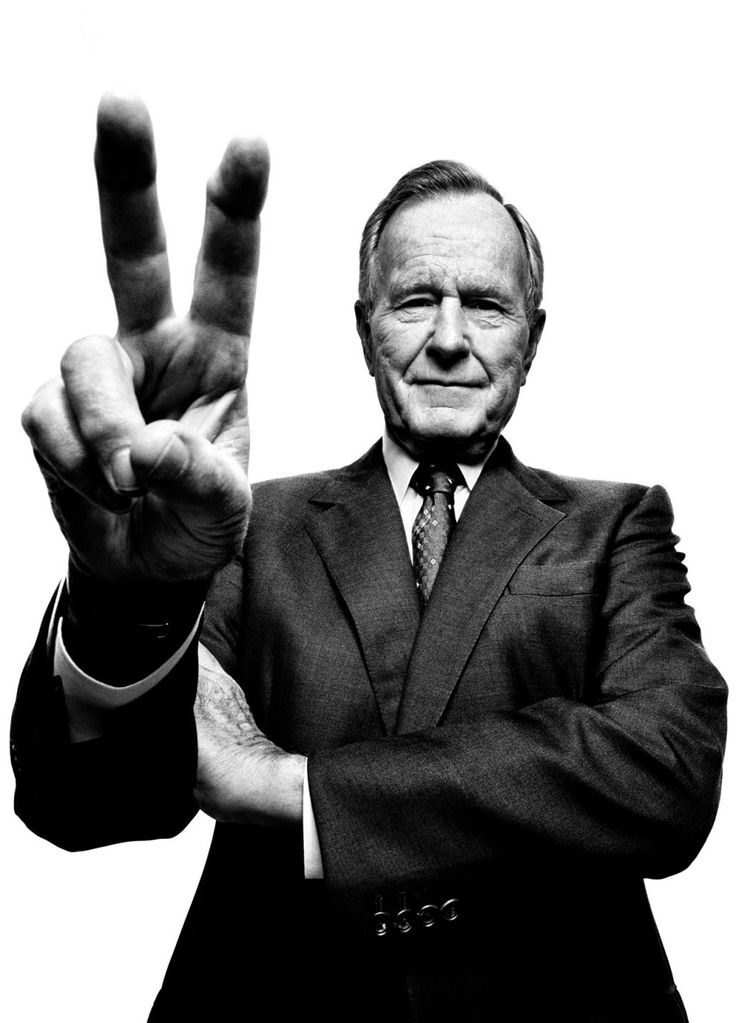 George H.W. Bush - by Platon