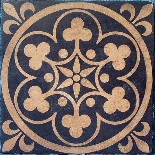 Gothic revival encaustic tile                                                                                                                                                      More