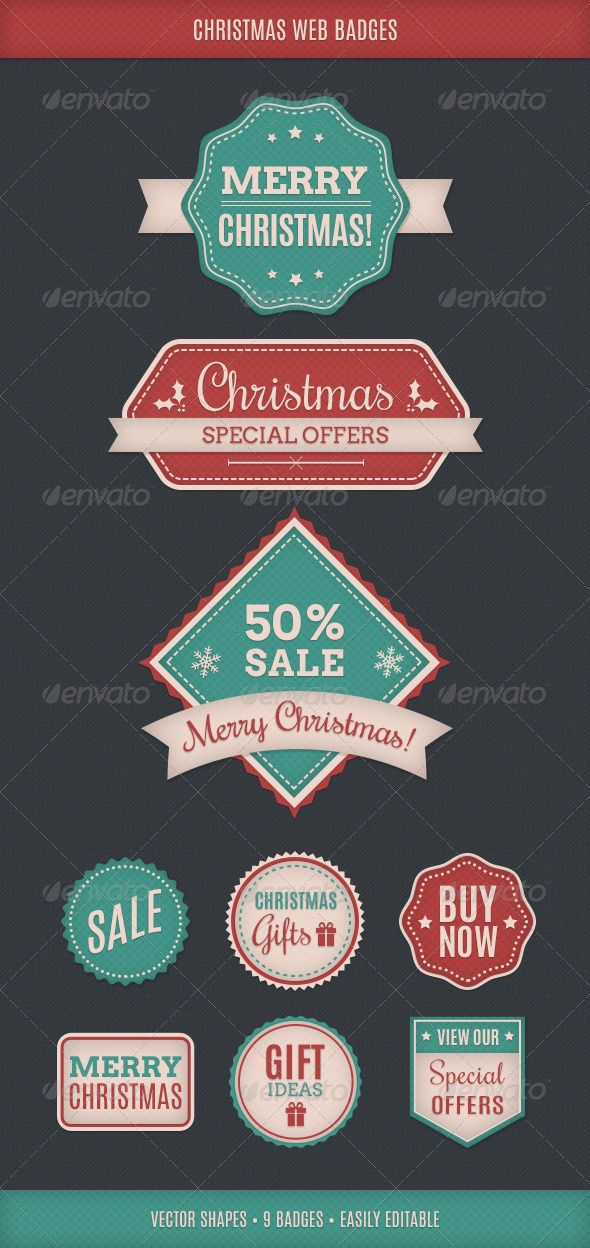 Christmas Theme Web Badges