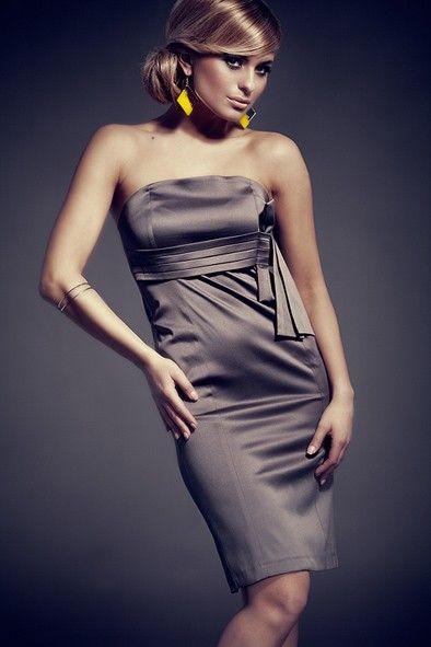 Rochie de ocazie gri  midi,eleganta,lungime medie,pana la genunchi, 79.90 RON  #rochiedeseara #rochieocazie