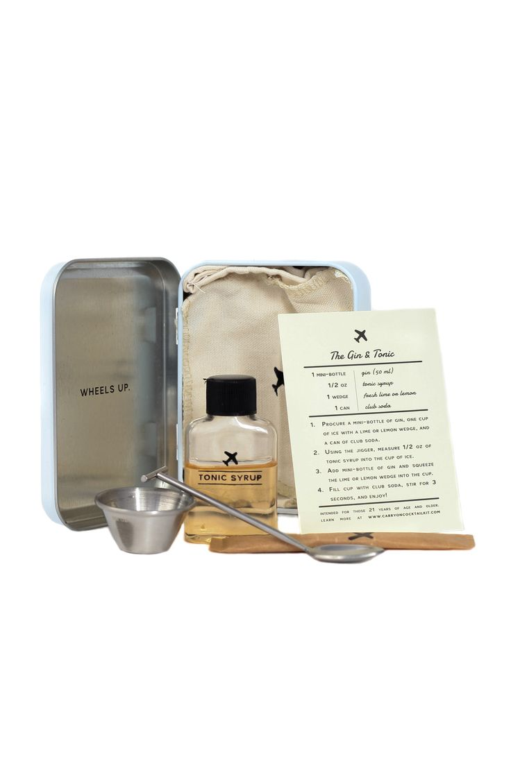 The Gin & Tonic - Carry on Cocktail Kit - W&P Design