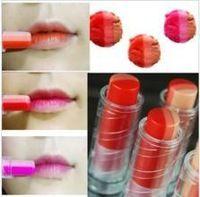 1pc Tinte Bar Triple Shot lápiz labial de color de Corea mujeres del estilo cosmético Maquillaje lipgloss impermeable tricolor de larga duración