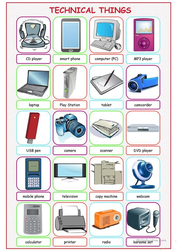 Technical Things Picture Dictionary Worksheet Free Esl Printable Worksheets Made By Teachers Computer Lab Lessons Computer Lab Classroom Picture Dictionary Free printable computer worksheets
