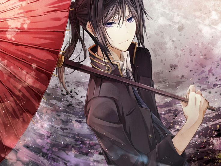 k-project, kuroh (with shiros umbrella ^^)