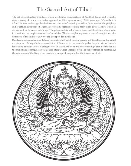 The Mandala Colouring Book: The Artful Path. 101 mandalas and inspirations from the fine arts to ensure your well-being |