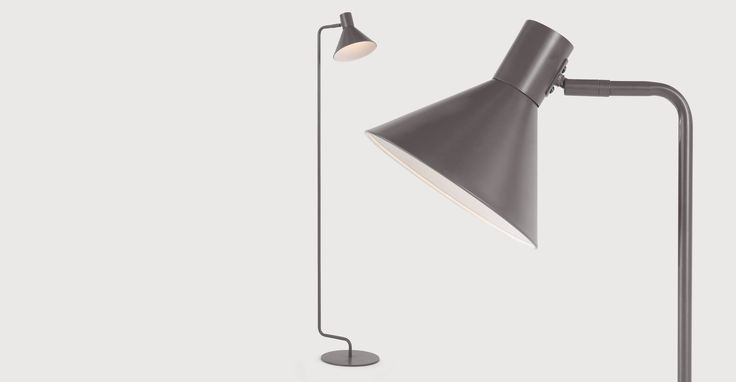 Truman Task Floor Light, Matt Grey