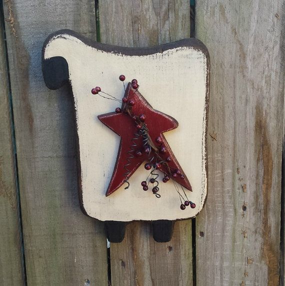 Primitive Sheep   Wood   Handmade Wall by GypsyWindPrimitives