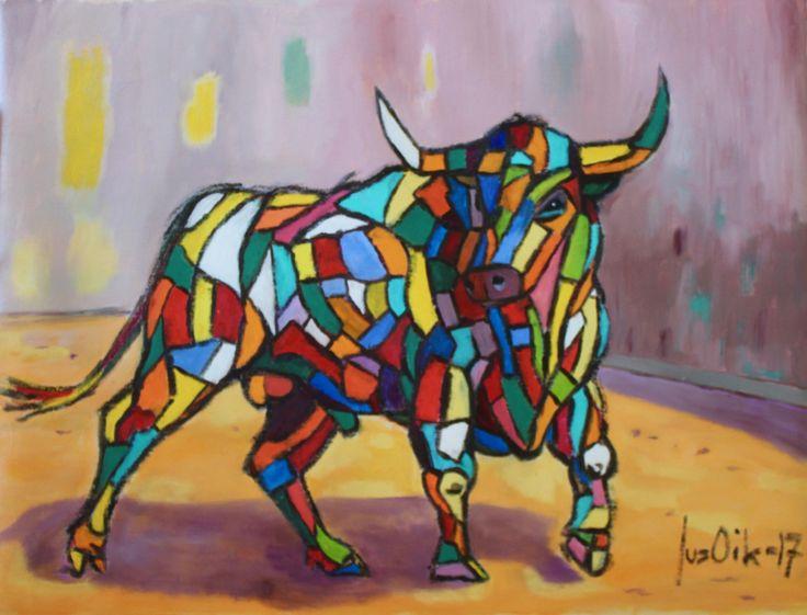 Toreador, 70x80, oil on canvas, 2017. Jusoik.com