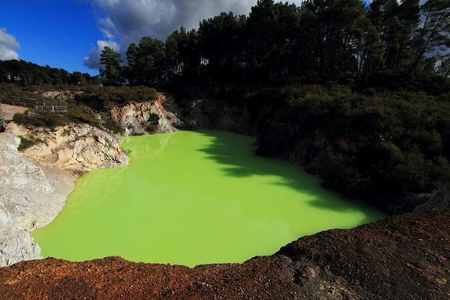 The Devil's Bathtub in Rotorua, New Zealand.    Photo courtesy of Dr. Benjamin Ross.