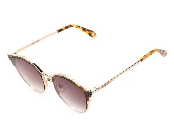 Oculos De Sol Colcci Preto Com Dourado Feminino Marrom