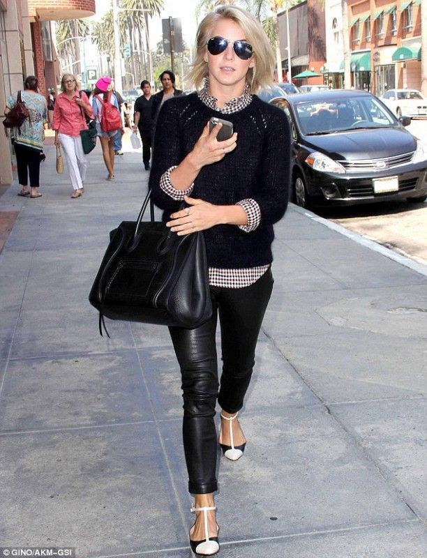 Julianne Hough wearing Celine Boston Bag Luggage Phantom Tote in ...