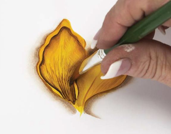 Basic Techniques of One-Stroke Flower Petal Painting