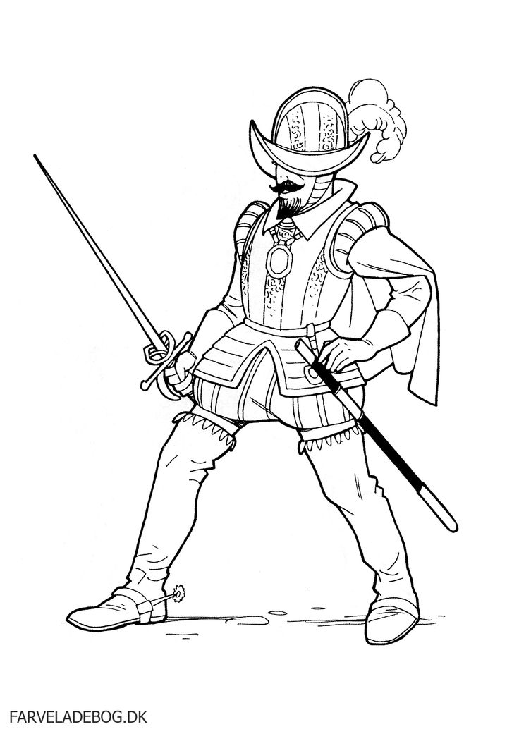 coloring pages of a conquistador - photo#3