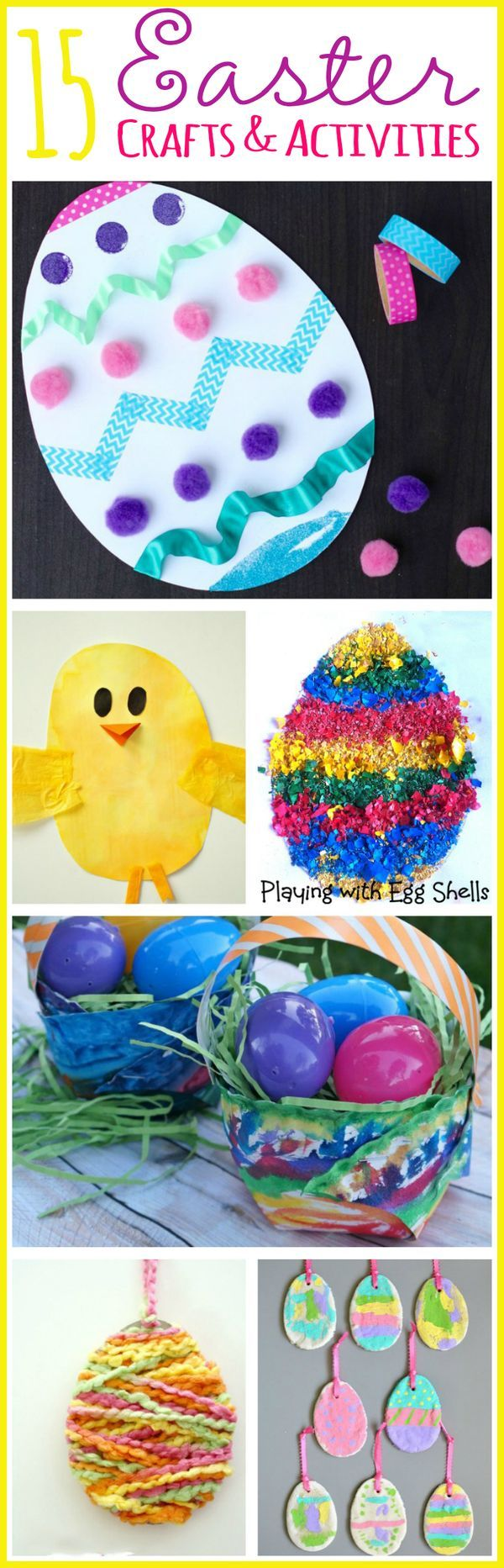 Let the kids have fun with these 15 easy Easter crafts and activities!