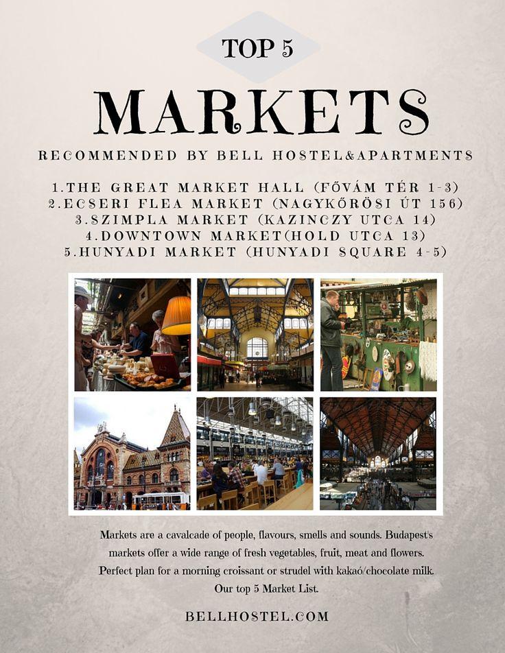 #top 5 markets budapest #budapest markets