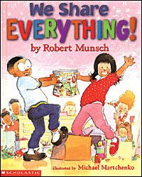 rubberboots and elf shoes: We Share Everything! - a great book for back to school