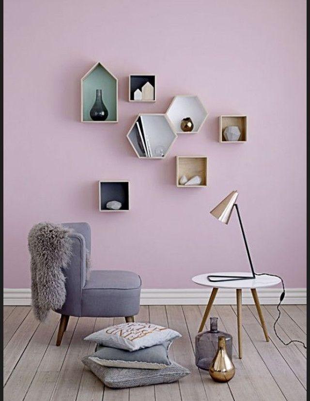 Les plus beaux interieurs scandinaves vus sur Pinterest etageres geometriques