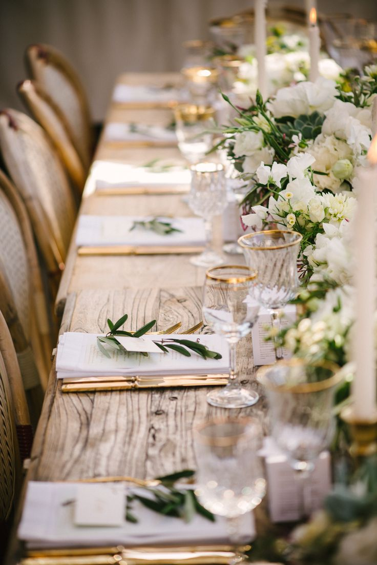 A Palette Of White And Green Is Sophisticated Refined Elegance Paired With Rustic Table Interesting Chairs Crystal Gold Accents