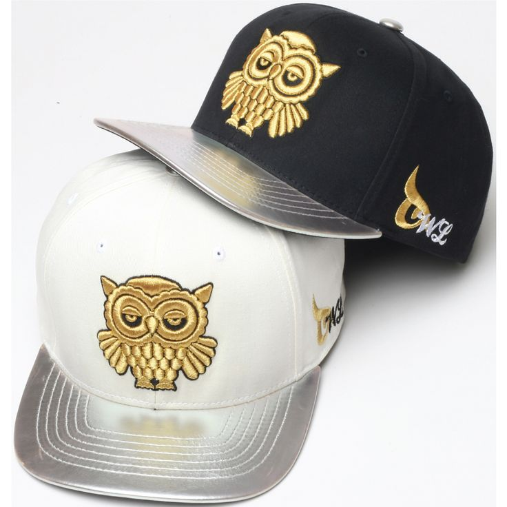 H39 Unique Shiny Gold Owl Embroidery HipHop Bill Snapback Flat Hat Club Cap b031dbc73d4