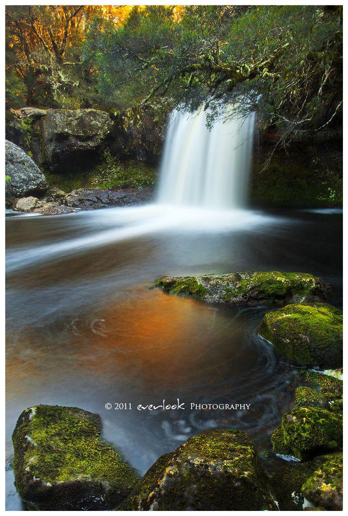 Knyvet Falls located at Cradle Mountain or Lake St Clair National Park in Tasmania_ Australia