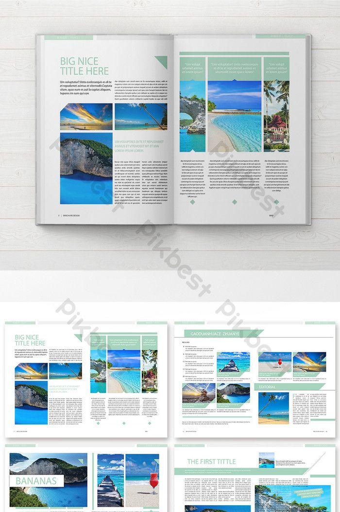 Fresh And Elegant Travel Guide Brochure Travel Guide Travel
