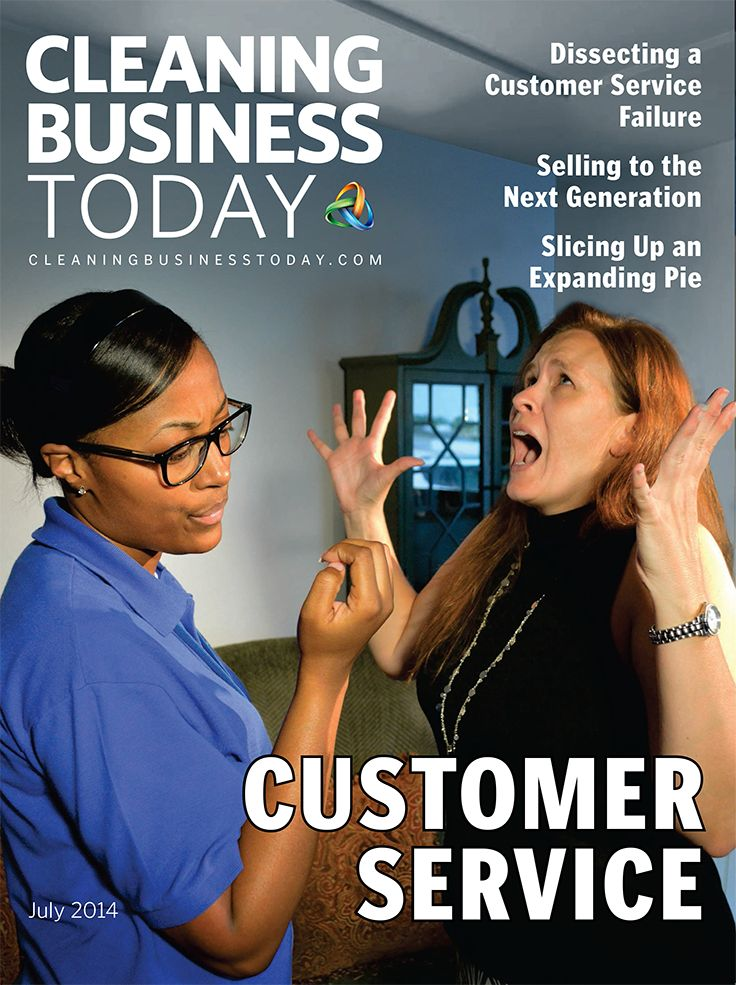 "Cleaning Business Today's July 2014 issue features articles about customer service, including Derek Christian's feature ""Dissecting a Customer Service Failure."""