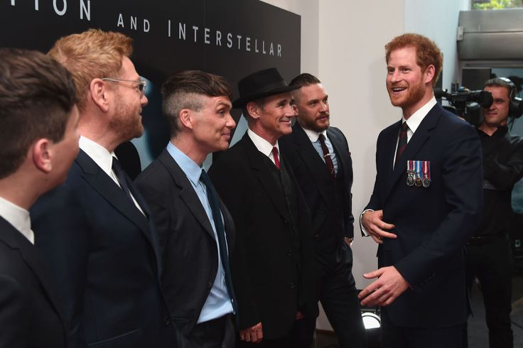 Prince Harry with the Dunkirk cast