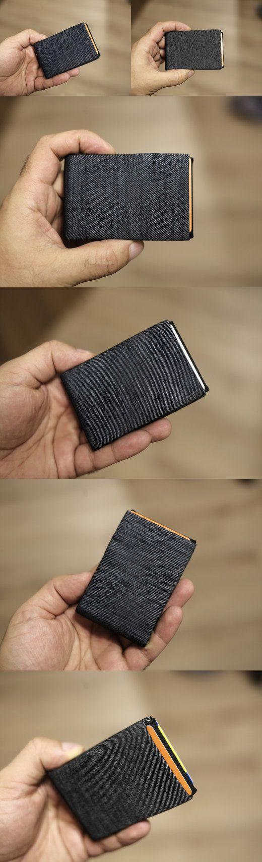 Vegan WalletRFID Wallet Minimalist WalletDenim Wallet
