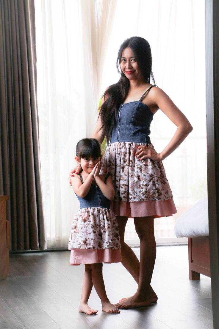 Mom and daughter matching dress