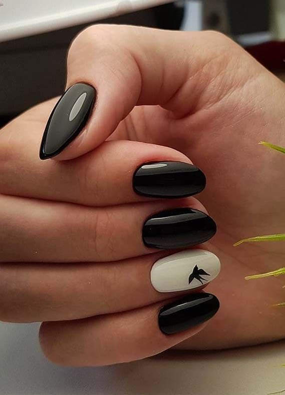 Best Ever Combo Of Black White Nail Polish To Try In 2019 Voguetypes Black White Nails White Nail Polish Matte Black Nails