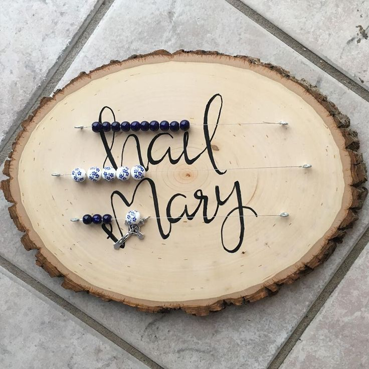 Abacus style wood slice Kitchen rosary - blue beads - gift for mom - catholic gift -hand lettered - christmas gift by SweetOakGallery on Etsy https://www.etsy.com/listing/498185272/abacus-style-wood-slice-kitchen-rosary