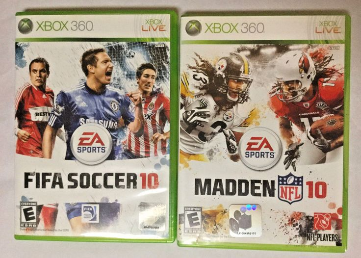 XBOX 360 Games Choice of FIFA Soccer 10 or MADDEN NFL 10  #EASports