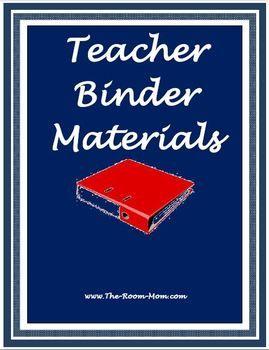 Teacher Binder Materials-- student behavior logs and parent contact logs, weekly parent communication template, monthly curriculum overview template (free) #backtoschool