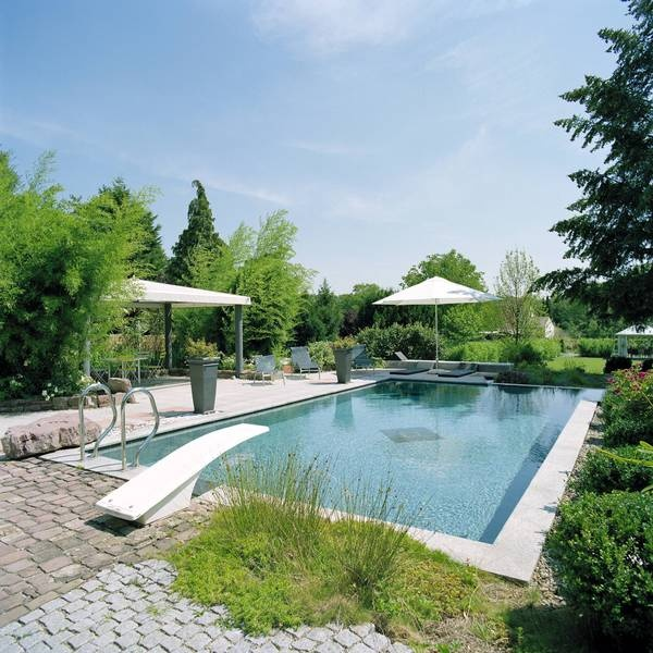 Pool mit sprungbrett outdoor im garten exclusive outdoor for Sprungbrett gartenpool