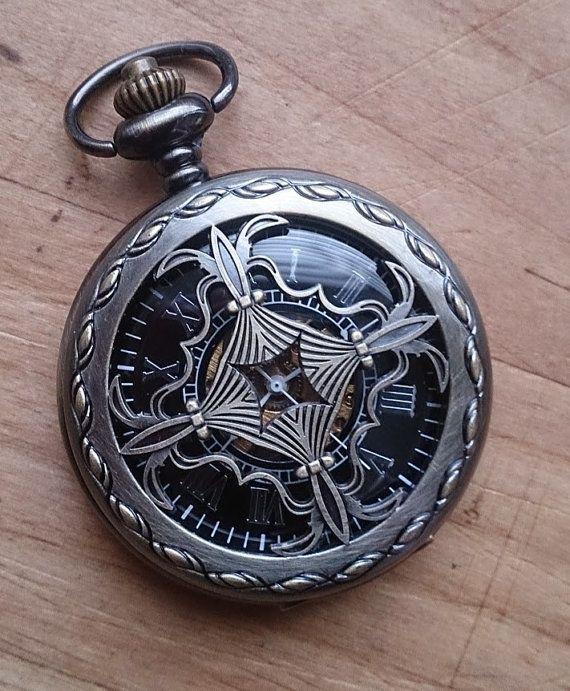Celtic Pocket Watch with Chain Wedding by PocketwatchPurveyor