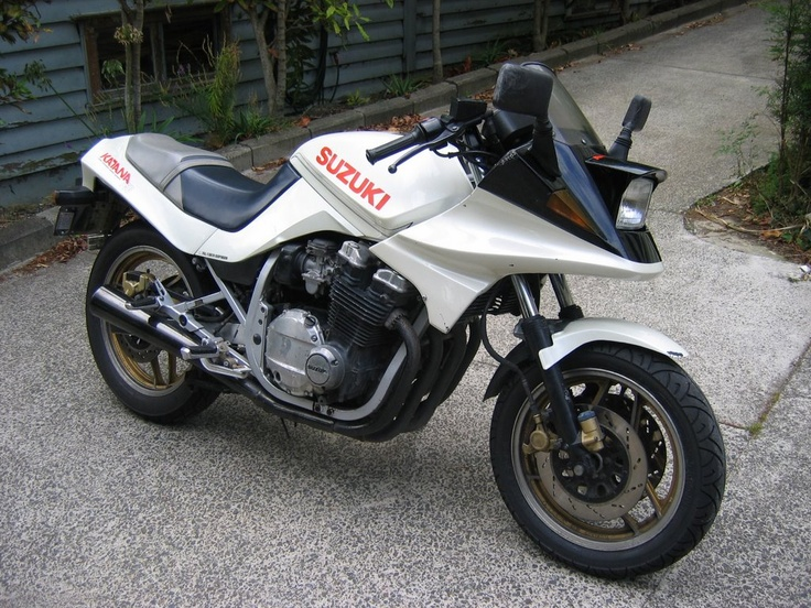 my first big bike. Suzuki katana 750.