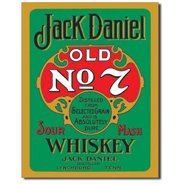 Jack Daniels Green Label Vintage Bar Metal Sign