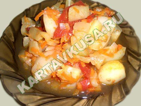 овощное рагу из кабачков с картофелем | пошаговый фото-рецепт