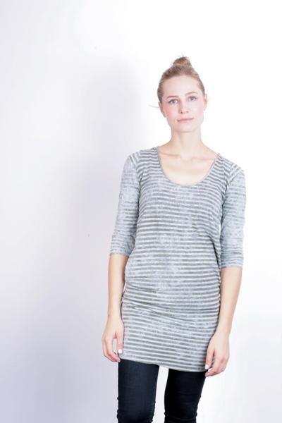 Diesel Women's S Dress Cotton Striped Crew Neck Long Sleeve - RetrospectClothes