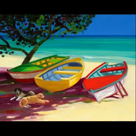 Lazy Beach by artist Shari Erickson - this painting brings the feel I would like to incorporate in the kitchen and a nice touch to the walls as well. #LGLimitlessDesign, #Contest